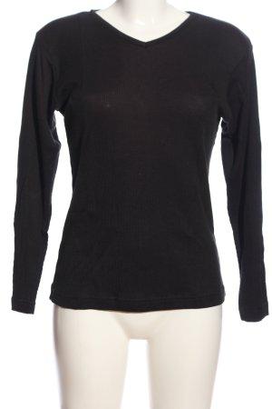 Avitano Lang shirt zwart casual uitstraling