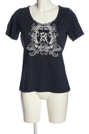 Avitano Shirt met print zwart-wit prints met een thema casual uitstraling
