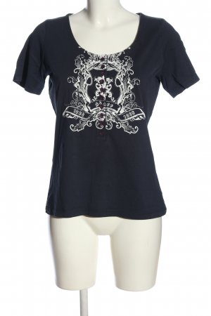 Avitano Print-Shirt schwarz-weiß Motivdruck Casual-Look