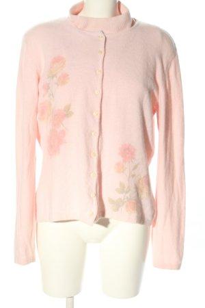 Avitano Gebreide twin set roze bloemenprint casual uitstraling