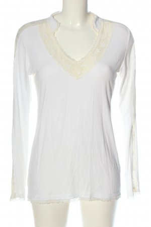 Avoca Koszulka z długim rękawem biały W stylu casual