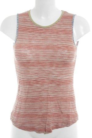 Avoca T-shirt rayé rouge brique-bleuet motif rayé style décontracté
