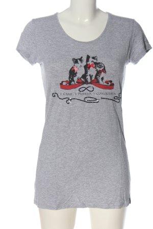 Avoca T-Shirt light grey flecked casual look