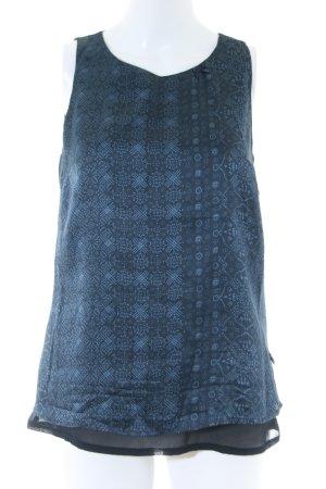 Avoca Trägertop blau-schwarz abstraktes Muster Casual-Look