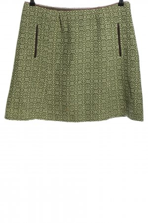 Avoca Wool Skirt green-white graphic pattern casual look