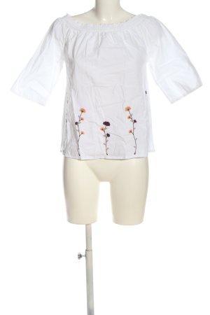 Avon Bluzka typu carmen biały Wzór w kwiaty W stylu casual