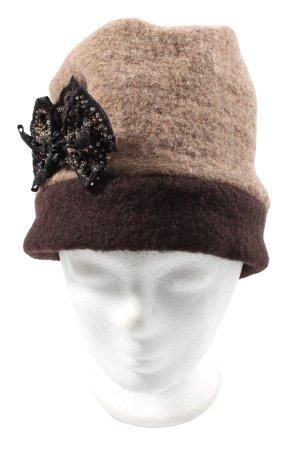 AW Accessoires Gorro con borla marrón-negro look casual