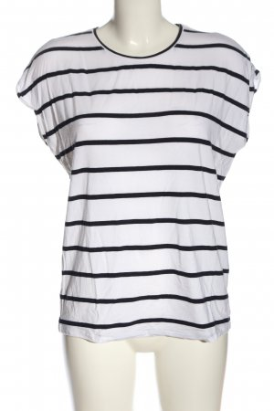 AWARE T-Shirt white-black striped pattern casual look