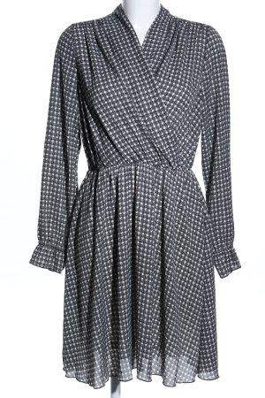 Vero Moda Blusenkleid schwarz-weiß Allover-Druck Casual-Look