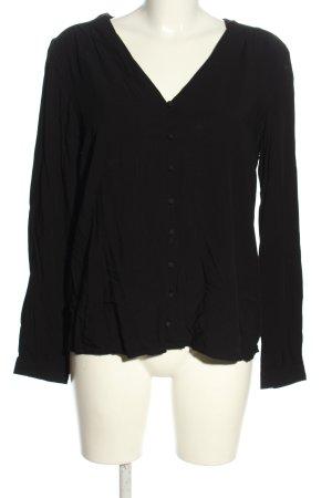 AWARE Koszulowa bluzka czarny W stylu casual