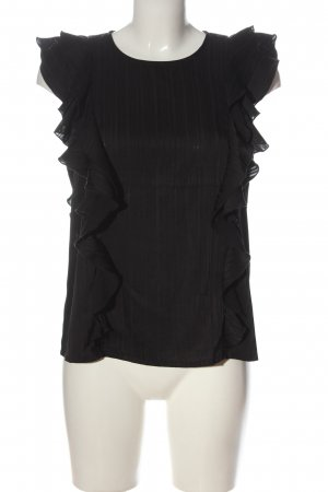 AWARE Shirt Blouse black striped pattern casual look