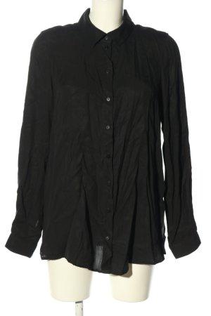AWARE Bluzka z długim rękawem czarny W stylu casual