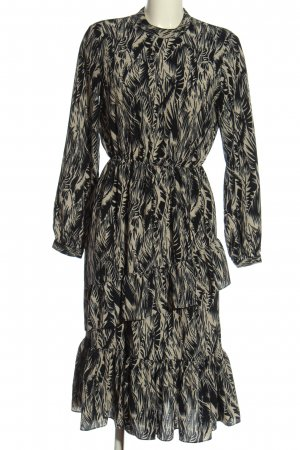 AWARE Longsleeve Dress black-natural white abstract pattern casual look