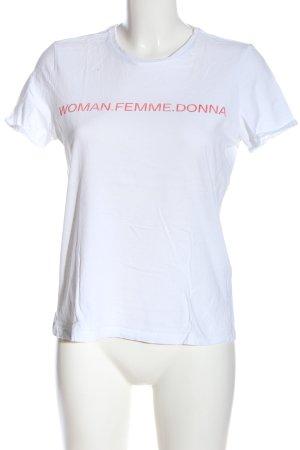 AWARE Koszulka z nadrukiem biały Wydrukowane logo W stylu casual