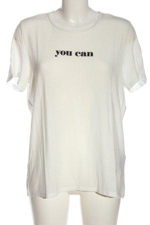 AWARE T-shirt imprimé blanc cassé lettrage imprimé style décontracté