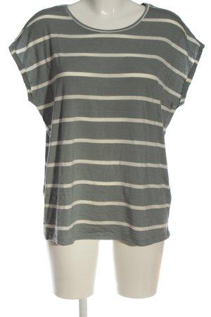 AWARE T-shirt rayé vert-crème motif rayé style décontracté