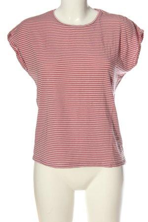 AWARE Stripe Shirt brown-cream striped pattern casual look