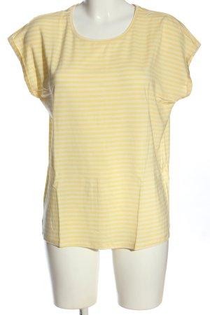 AWARE Koszulka w paski bladożółty-biały Wzór w paski W stylu casual