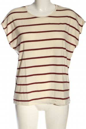 AWARE Stripe Shirt natural white-brown allover print casual look