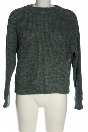 AWARE Crewneck Sweater light grey cable stitch elegant