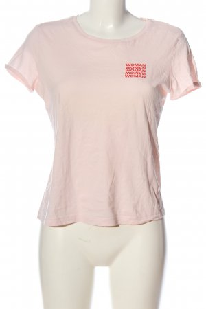 AWARE T-shirt wit-rood gedrukte letters casual uitstraling