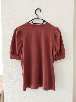 AWARE Koszulka basic szaro-liliowy-purpurowy