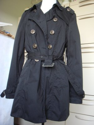 AWC Mode Center - Trenchcoat schwarz Gr. 38/40  Baumwolle Jacke Mantel