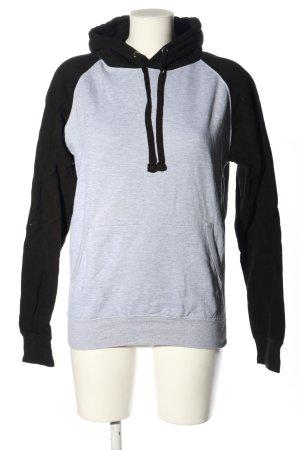 AWDis Pull à capuche gris clair-noir imprimé avec thème style décontracté