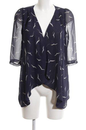 Awear Veste chemisier bleu-blanc imprimé allover élégant