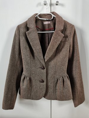 a wear Tweed blazer lichtbruin