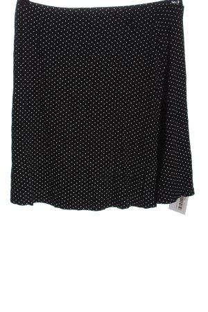 AWG Mode Center Spódnica mini czarny-biały Wzór w kropki W stylu casual