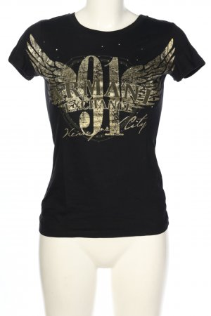 AX ARMANI EXCHANGE Print Shirt black-gold-colored themed print casual look