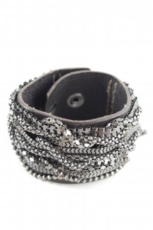 AX Bracelet black-silver-colored wet-look