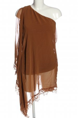 AX One Shoulder Dress brown extravagant style