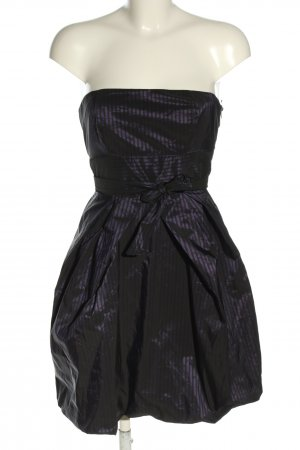 AX Paris Ballonjurk zwart-lila gestreept patroon elegant