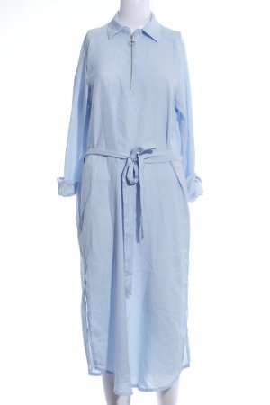 AX Paris Robe chemisier bleu style d'affaires