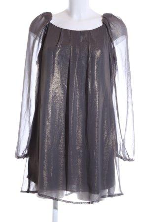 AX Paris Robe chemisier violet-doré moucheté style mouillé