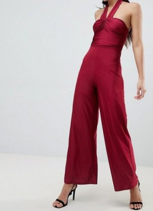AX Paris Langer Jumpsuit bordeaux Polyester