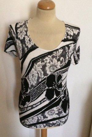 AX Paris Sweter z krótkim rękawem biały-czarny