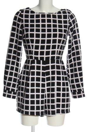 AX Paris Kurzer Jumpsuit zwart-wit geruite print casual uitstraling