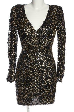 AX Paris Langarmkleid schwarz-goldfarben Elegant