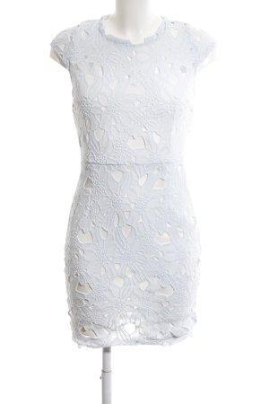 AX Paris Robe mi-longue blanc motif de fleur élégant