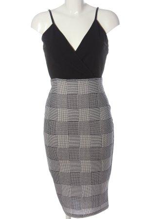 AX Paris Midi-jurk zwart-wit geruite print casual uitstraling