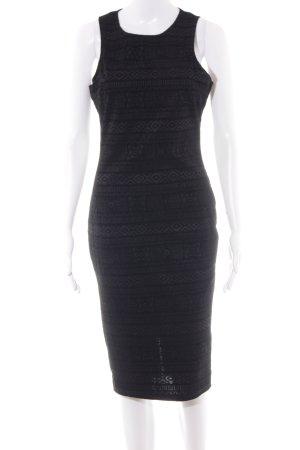 AX Paris Robe mi-longue noir Mélange de motifs style décontracté