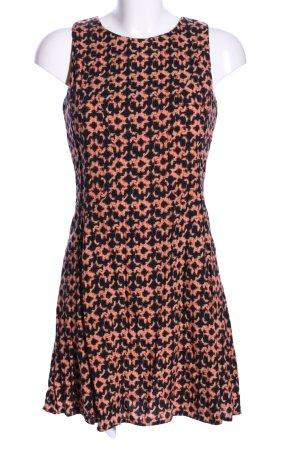 AX Paris Robe courte noir-orange clair imprimé allover style décontracté