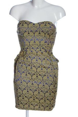AX Paris Robe courte bleu-jaune primevère motif graphique style décontracté