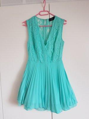 AX Paris Szyfonowa sukienka turkusowy