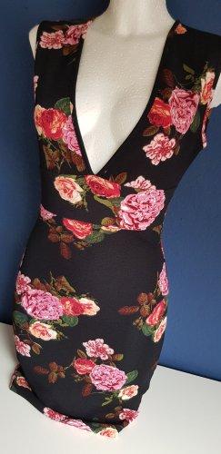 AX Paris – Minikleid mit tiefem Ausschnitt und Rosenprint...