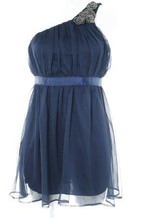 AX Paris Robe asymétrique bleu foncé élégant