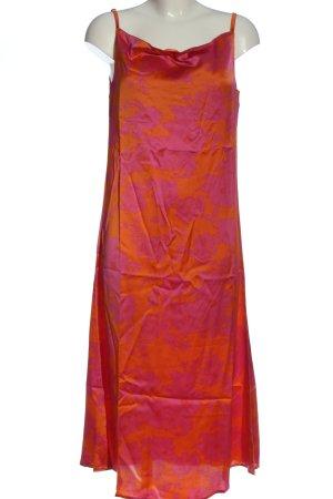 AX Paris Robe à bretelles rose-orange clair imprimé allover élégant